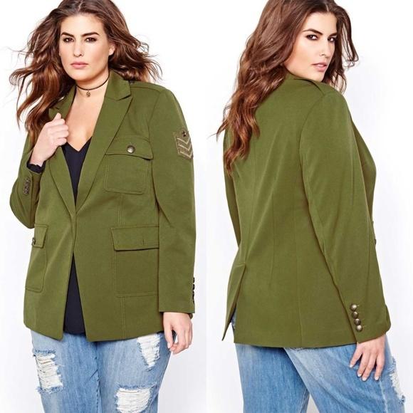 RACHEL Rachel Roy Jackets & Blazers - Rachel Roy Size 14 Military Boyfriend Blazer Jacke